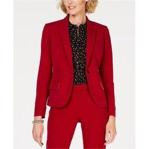 Anne Klein One button Red Blazer
